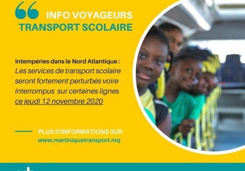 TRANSPORT SCOLAIRE | Perturbation sur le Nord Atlantique